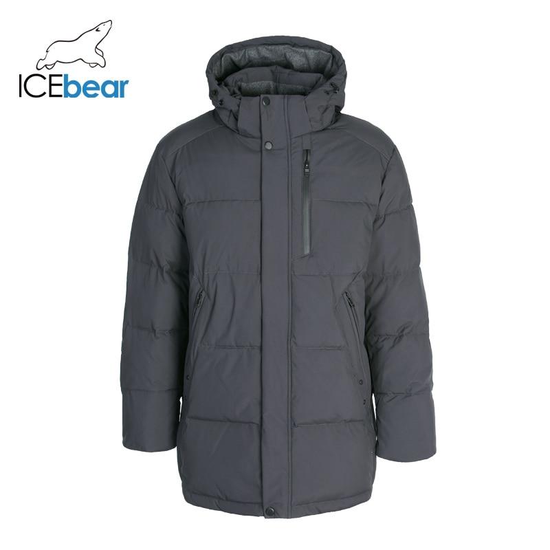 ICEbear 2019 New Winter Men's Clothing High Quality Men's Hooded Coat Brand Jacket MWD19937I icebear 2018 new high quality winter coat women hooded windproof jacket long women s clothing high grade metal zipper gwd18101d