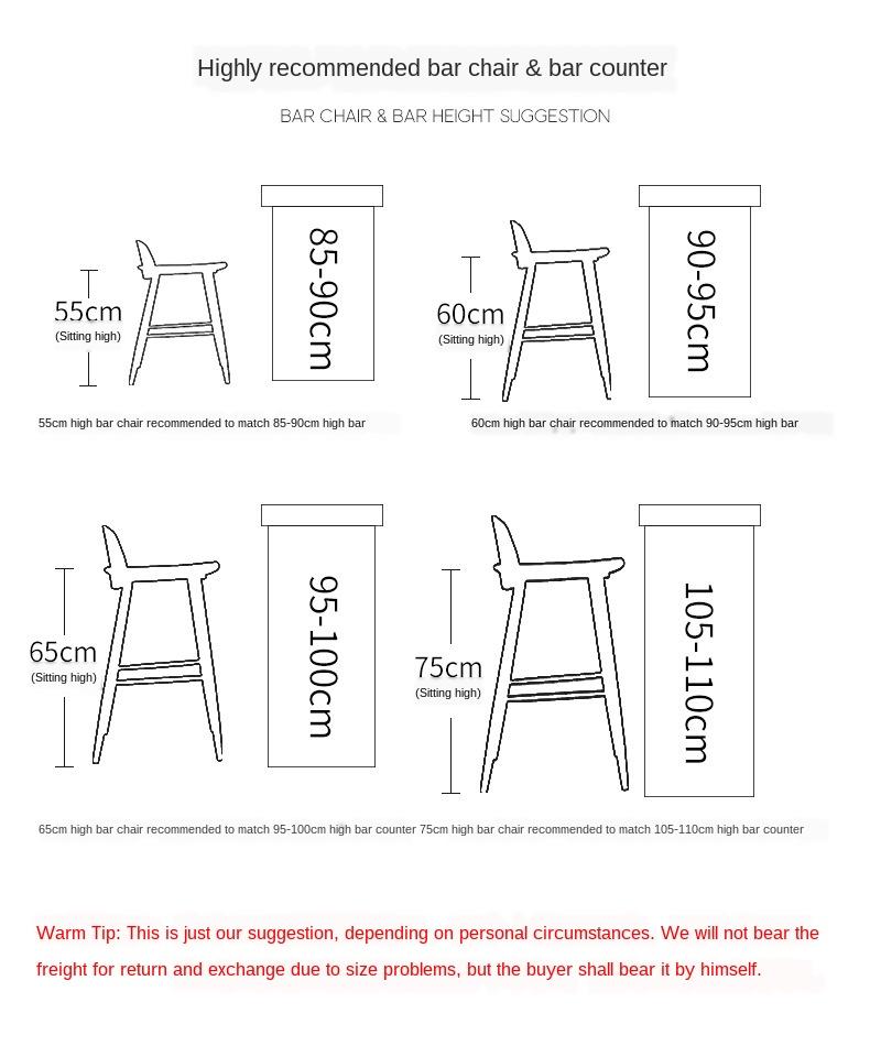 Nordic Bar Stools Fashion Modern Minimalist Bar High Bar Stool Home Personality Bar Chair Creative Design Chair 66cm Seat Height Bar Chairs Aliexpress