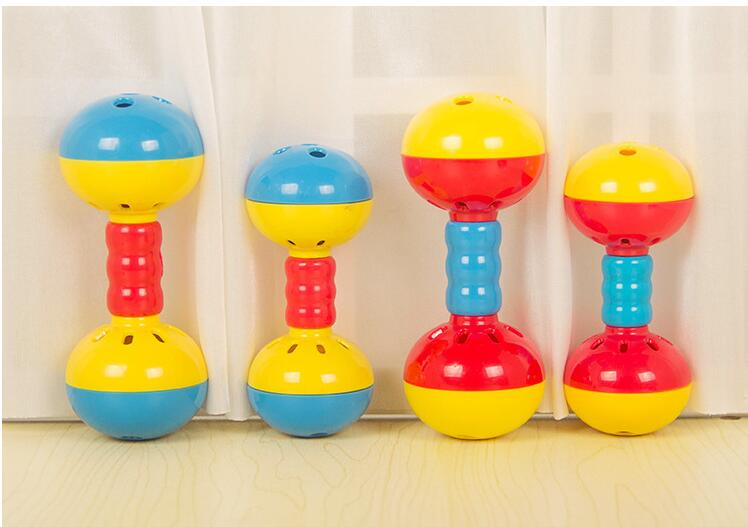 Parakeets Conures Toys Bird Rattles Bells Foot Toys Enrichment Barbell Ball Toys Play Gym Cage Accessories for Medium Parrots 7
