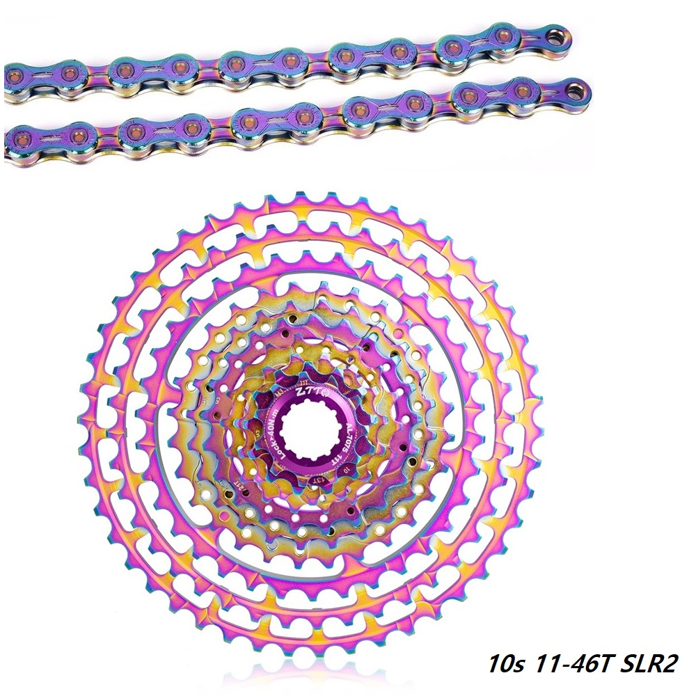 MTB 1*10 10 Speed <font><b>Groupset</b></font> SX10EL Rainbow Chain 10S Bike Group Set For Mountain Bike10 Speed <font><b>1x10</b></font> kit 11-46T Rainbow Cassette image