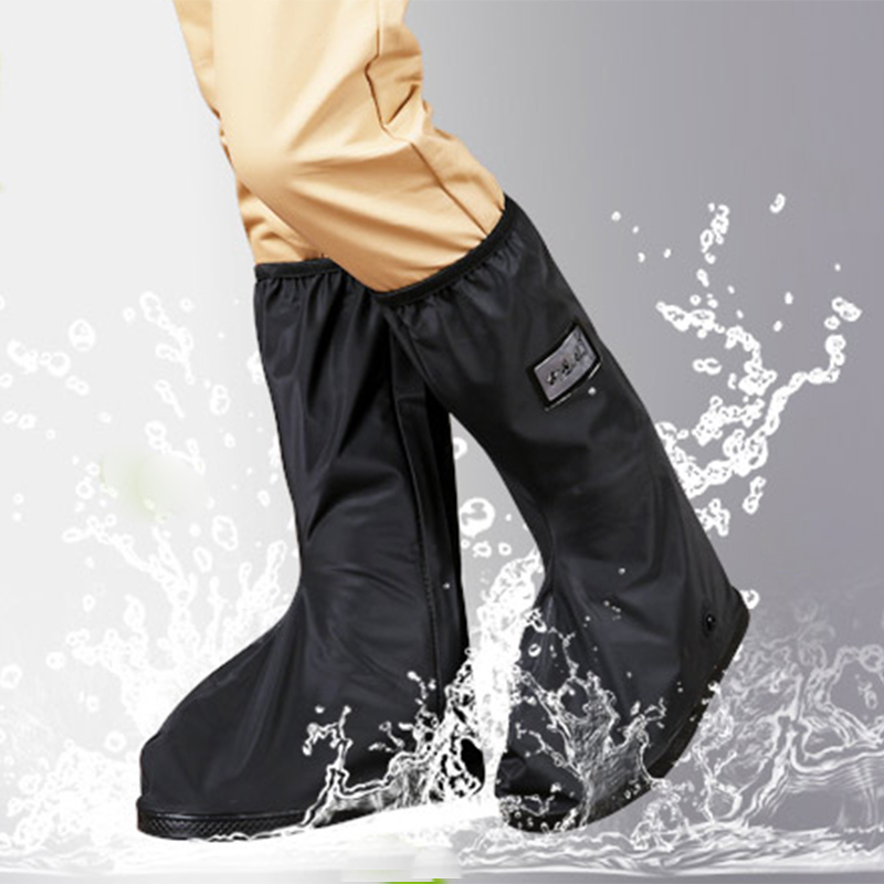 Motorcycle boot rain Cover Waterproof Outdoor riding Moto shoes Raincover Thicker Bottom reflective for shoes boot