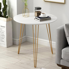 Nordic sofa side table for living room iron tea table simple bedside table round table balcony small coffee table simple tea table tea table balcony leisure small table