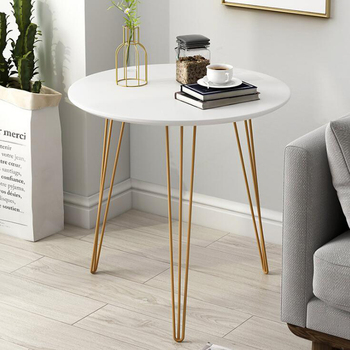 цена на Nordic sofa side table for living room iron tea table simple bedside table round table balcony small coffee table
