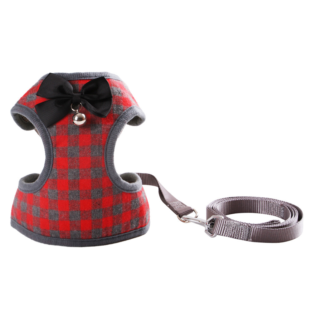 Bell Bowtie-Cat Teddy Small Dogs Hand Holding Rope Bichon Pomeranian Schnauzer Xiong Bei Yi