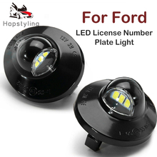 цена на 2pcs White LED License Number Plate Light For Ford Ranger Superduty Explorer Bronco Explorer Excursion F150 F250 F350 F450 F550