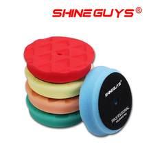 Shine Guys 4-дюймовая (100 мм) светильник Средняя/тяжелая полировальная колодка и полировальные колодки для 3-дюймового (80 мм) полировального станк...