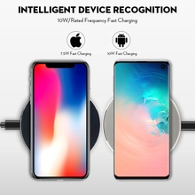 Fast Wireless Charging 10w Qi for Iphone 11 Pro X Xs Max XR for Samsung S8 S9 S10 Plus Note 10 9 Charging Pad Wireless Charger 10w fast wireless charger for samsung galaxy s10 s9 s9 s8 note 10 usb qi charging pad for iphone x xs 8 xiaomi