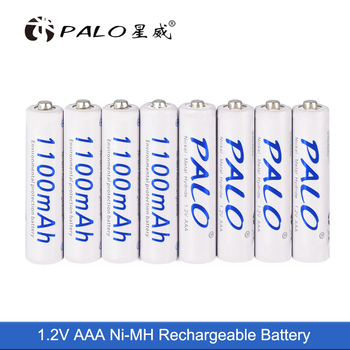 PALO 8pcs aaa rechargeable battery 1.2v 3a battery for remote control car camera shaver telephone flashlights image