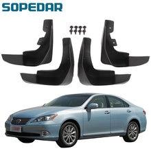 4Pcs Car Mud Flaps Mudflaps Mudguard Mud Flap Guards Fenders Fits for Lexus ES350 2010-2012