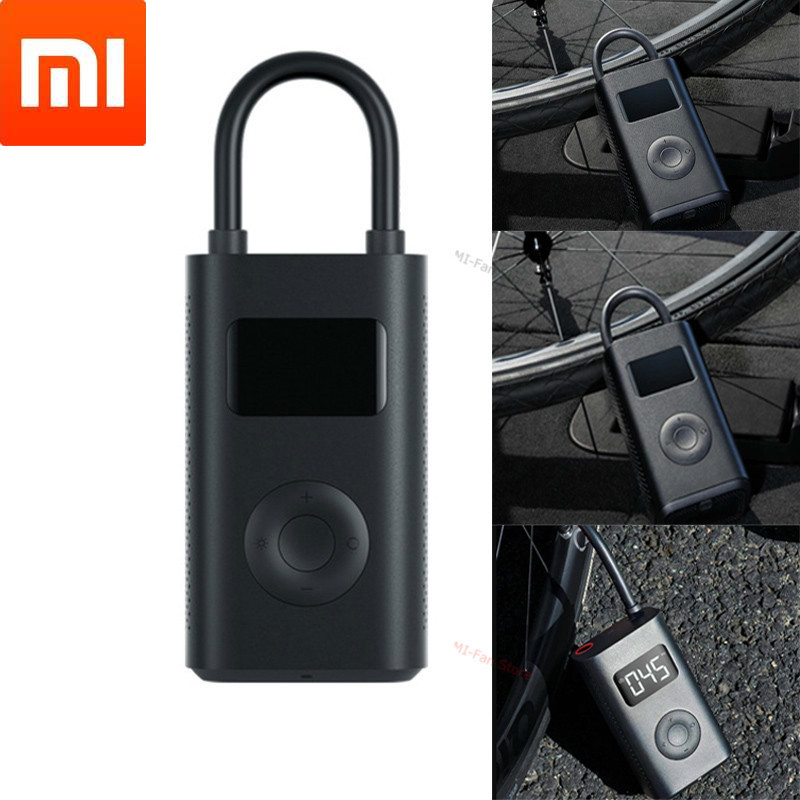 Xiaomi Mijia Portable Smart Home Digital Tire Pressure Detection Electric Inflator Pump for Bike Motorcycle Car Football image