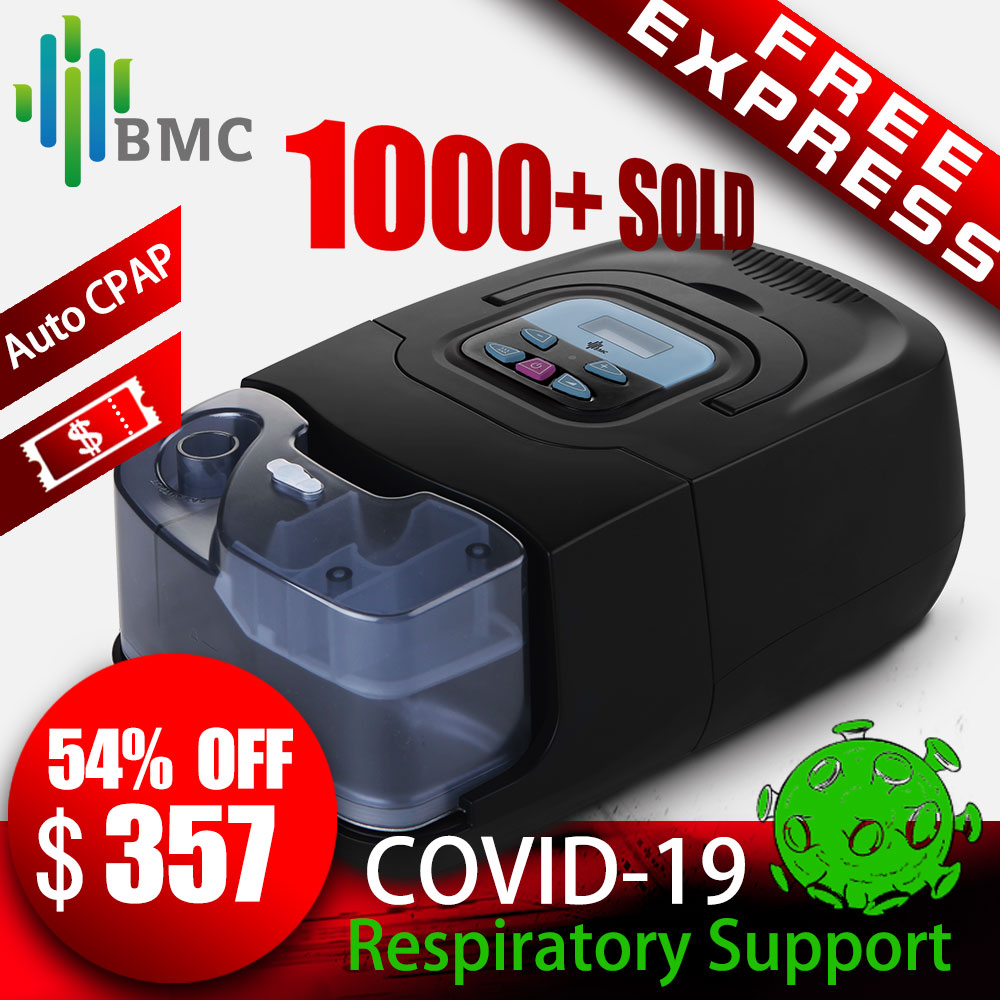 BMC GI Auto CPAP Machine Black Shell Smart Home Care Respirator For Sleep Snoring Apnea Therapy With Humidifier And CPAP Mask