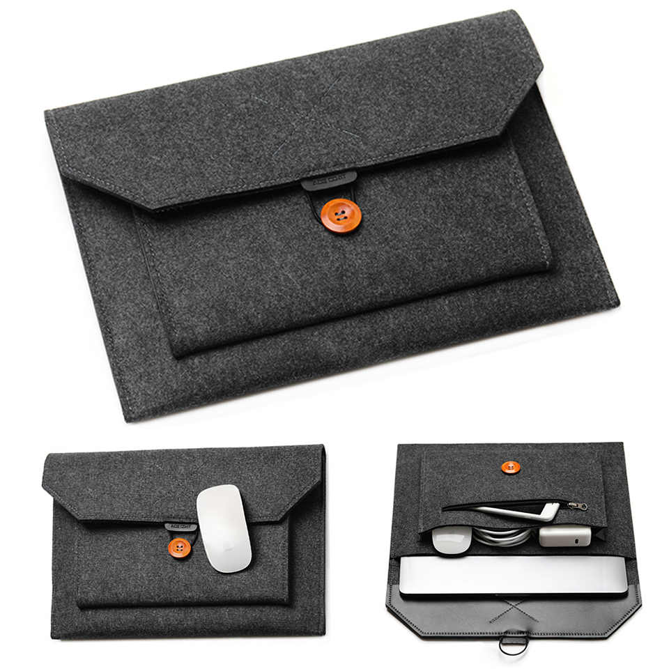 "11.6/13/14/15 ""Laptop Lengan Merasa Ultralight Notebook Tablet Pad Case Multi-Saku Kantong tas Tas untuk Apple MacBook/Asus"