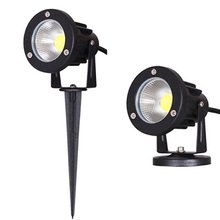 LED COB Garden Lawn Lamp Light 220V 110V DC12V Outdoor LED Spike Light 3W 5W 7W 10W Path Landscape Waterproof Spot Bulbs