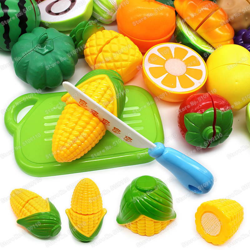 Dishes Simulation Cooking Set Goods Girls Toys Pretend Play Plastic Vegetables And Fruit Food Kids Kitchen Toy Food For Dolls