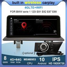 10.25 player player ips android carro gps navegação rádio multimídia player para bmw 1 série 120i e81 e82 e87 e88 msm 4g ram 64g rom 8 núcleo