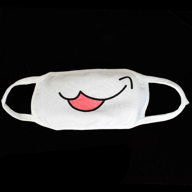1pc Girls White Cute Anime Kaomoji-kun Emotiction Mouth-muffle Kawaii Cotton Anti-Dust Face Mask Hot Sale 4