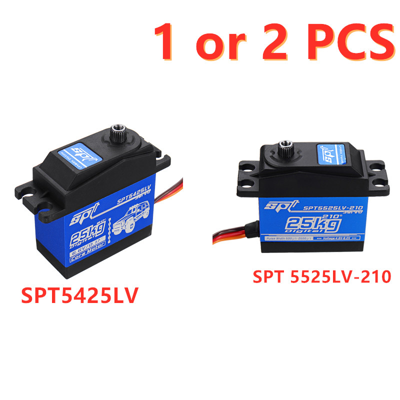 1/2 PCS SPT5425LV/SPT5525LV 25KG 90 Large Torque Digital Metal Gear Servo For 1:8 1:10 RC Robot Car Boat Spare Parts Accessories
