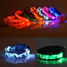 LED Dog Collar Luminous Pet Products Safety Camouflage Stylish Flashing Glow Necklace Pet Accessories(China)
