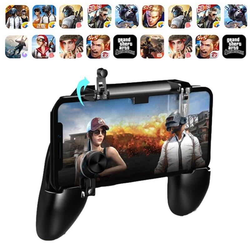 W11 + PUGB mobil oyun denetleyicisi ücretsiz yangın PUBG cep Joystick Gamepad Metal L1 R1 düğmesi iPhone oyun pedi android