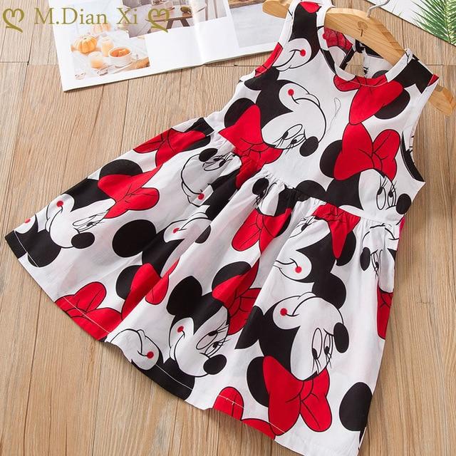 Kids Dresses Girls 2020 New Fashion Sweater Cotton Flower Shirt Short Summer T-shirt Vest Big For Maotou Beach Party Dress 4