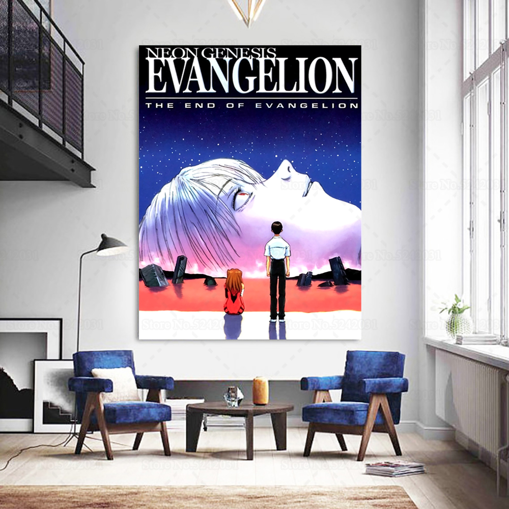 Neon Genesis Evangelion Canvas Painting Anime Poster Wall Art Painting Home Decoration For Living Room