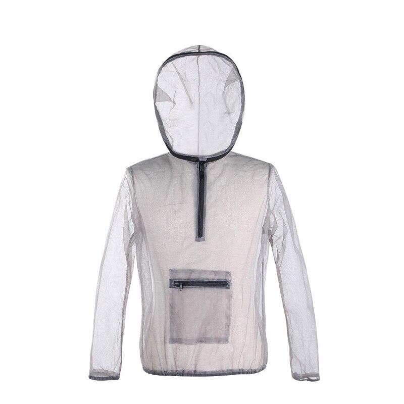 Spor ve Eğlence'ten Balıkçılık Giysileri'de Açık ceket Ultra hafif örgü kapşonlu sivrisinek kamp balıkçılık bahçe koruma örgü gömlek balıkçılık takım elbise title=