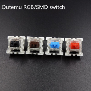 10 шт./упак. оригинальная Высококачественная механическая клавиатура Outemu, переключатели 3Pin RGB SMD, черная, синяя, красная, коричневая клавиатур...