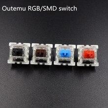 10 ชิ้น/แพ็คคุณภาพสูง Outemu สวิทช์คีย์บอร์ดเครื่องกล 3 Pins RGB SMD สีดำสีแดงสีน้ำตาลคีย์วัตต์