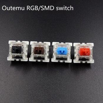 10 шт./упак. оригинальная Высококачественная механическая клавиатура Outemu, переключатели 3Pin RGB SMD, черная, синяя, красная, коричневая клавиатура