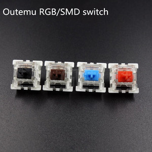 Image 1 - 10pcs/pack original High quality Outemu mechanical keyboard switches 3pins RGB SMD black blue red brown keyswitch
