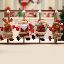1 Pcs Cute Christmas Ornaments Merry Christmas Gift Santa Claus Snowman Tree Toy Doll Hang Decorations Xmas Party Home Decor cute holiday snowman doll lint cellucotton toy for christmas white red