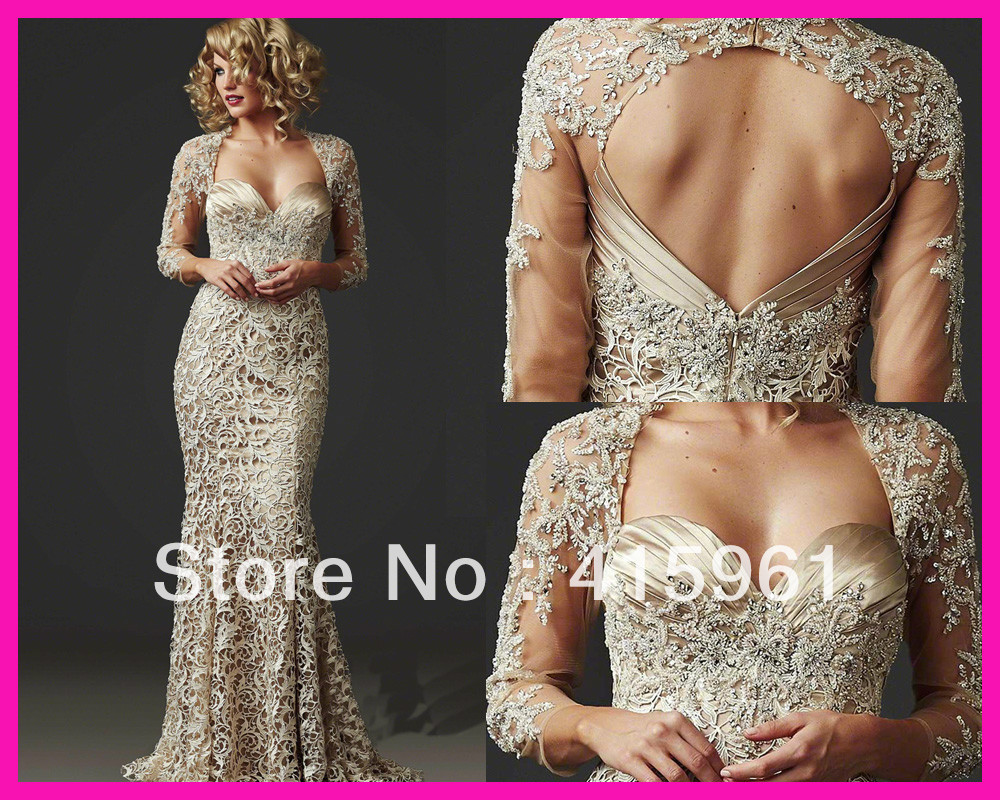 Vestidos De Novia Long 2019 Gorgeous Beaded Lace Mermaid Mother Of The Bride Dresses Party Gowns Evening Dress For Weddings