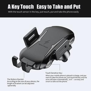 Image 5 - Automática Do Carro Montar Carregador Sem Fio Qi para Samsung Galaxy Nota 10 Plus 10 + 5G Móvel Acessórios de Carregamento Rápido suporte do Telefone do carro