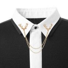 2019 сплав костюм рубашка маленький олень голова кисточка воротник игла высококачественный Рождество животное мужчины и женщины одежда аксессуары