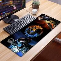 Alfombrilla XXL para ratón de Gaming, Accesorios para ordenador, teclado, portátil, escritorio, alfombrilla para ratón, Mortal Kombat, 90x40CM