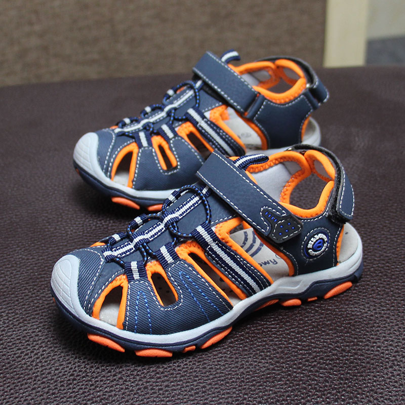 New Design 1pair Boy Children Bech Sandals Leather Shoes ,Leisure Kids Shoes