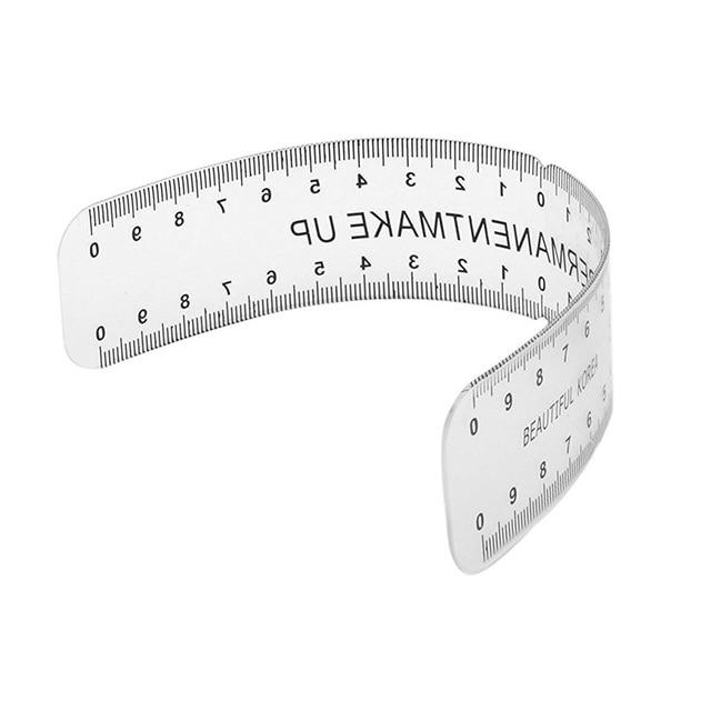 NEW-Eyebrow Care Stencil Shaper Ruler Measuring Tool Makeup Reusable black 2