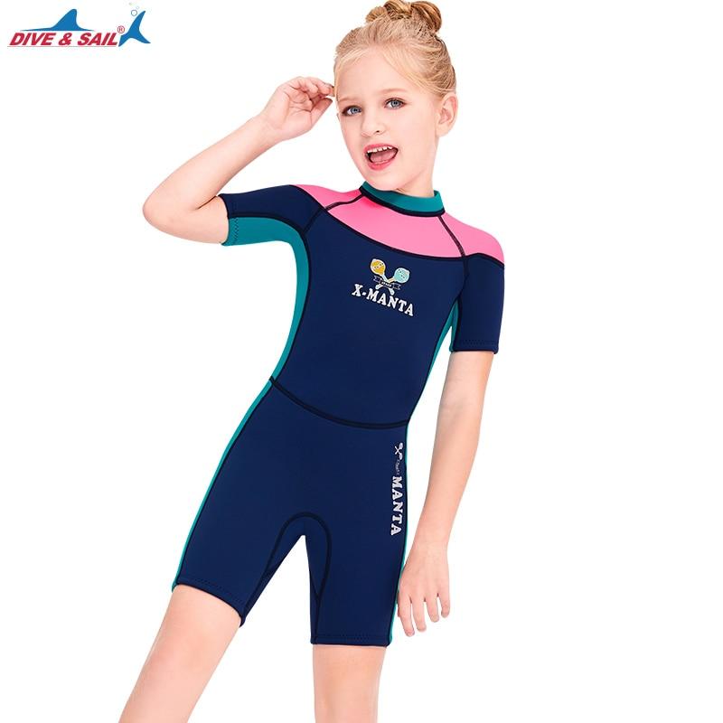 Odziezet Kinder Noeprenanzug Taucheranzug Schwimmanzug Bademode 1-14 Jahre