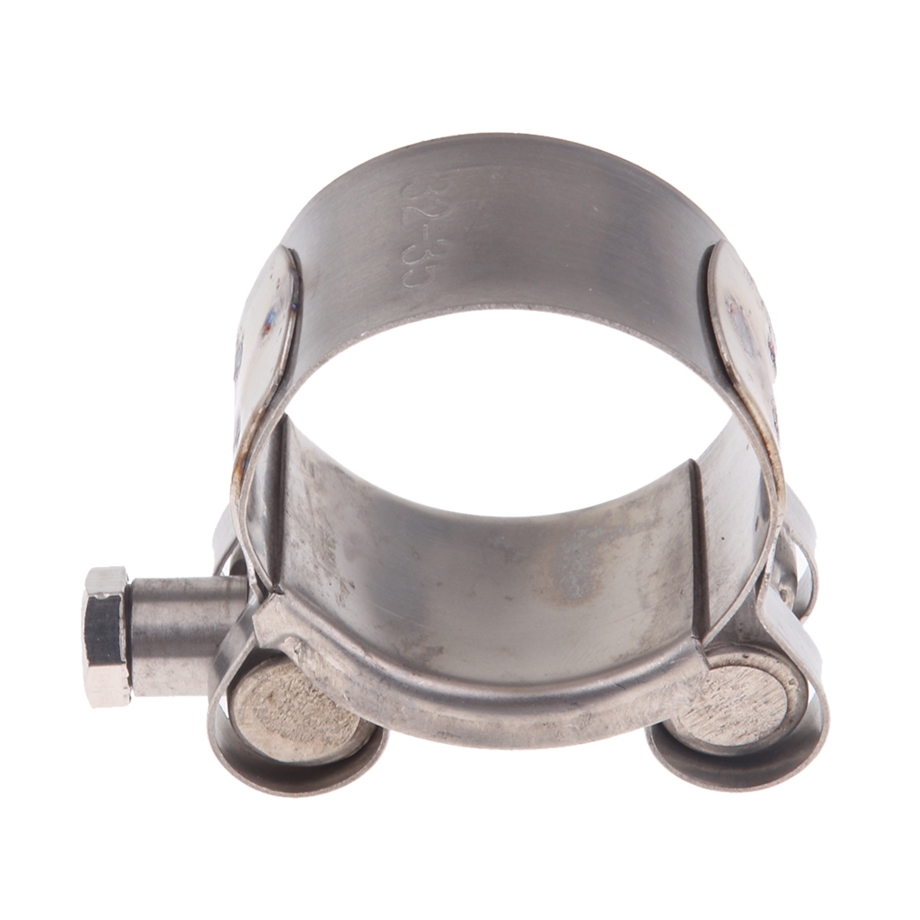 Aço inoxidável silenciador braçadeiras de escape da motocicleta clipes o-clamp
