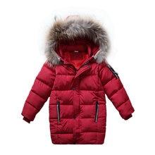 Детская Хлопковая парка теплый пуховик зимняя верхняя одежда