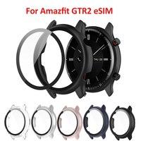 Funda protectora para Amazfit GTR 2 eSIM 2e, funda protectora para Amazfit GTR 2 2e, protectores de pantalla de vidrio templado, marco de pulsera