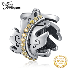 JewelryPalace Modern Art Deco 925 Sterling Silver Beads Charms Original Fit Bracelet original Jewelry Lady