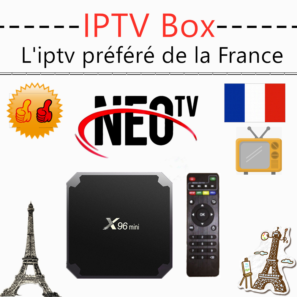 Best neo iptv box x96 mini neo tv pro android tv box <font><b>Belgium</b></font> Arabic M3U IPTV 1 Year neo tv pro x96mini smart ip tv no app includ image