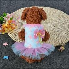 2019 Summer Super Cute Pet Dog Puppy Princess Dress Practical Clothes with Flowers Patterns dress