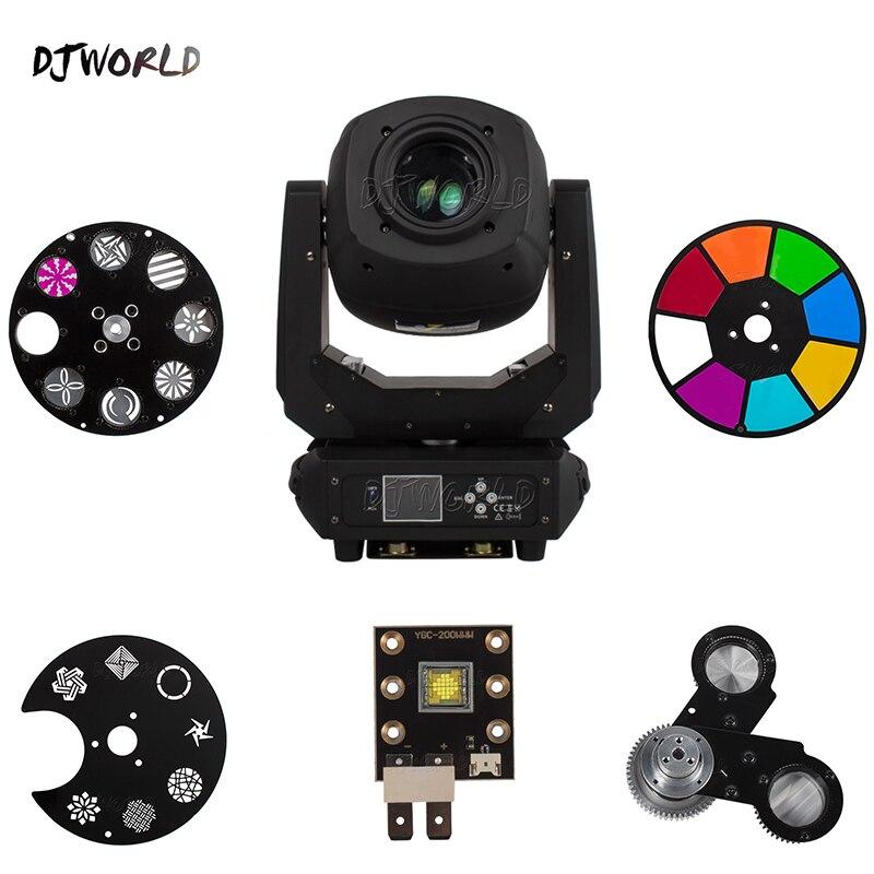Djworld LED Spot Beam Zoom 230W Lighting Moving Heads Lighting Parts Lamp Beads Static Gobo Rotation Gobo Color Wheel Prism