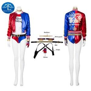 Manluyunxiao ハーレークインコスプレハロウィーンの衣装子供 dc スーパーヒーロー仮装衣装カスタムメイド