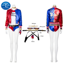 Manluyunxiao Harley Quinn Cosplay Halloween Costumes For Women Kids DC Suicide Squad Superhero Masquerade Outfit Custom Made harley quinn cosplay costumes rebirth version acgcosplay dc comic