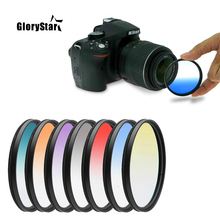 30 37 40.5 43 46 49 52 55 58 62 67 72 77 82 MM Circle Graduated Gradual Gradient Color Lens Filter for Nikon Cannon Sony Pentax