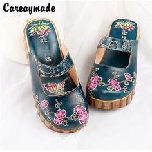 Туфли ручной работы careaymade из воловьей кожи в фольклорном