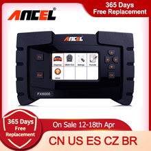 ANCEL FX6000 OBD2 Automotive Scanner Professional Code Reader Volle System ABS SRS DPF TPMS Auto Diagnose Autotool